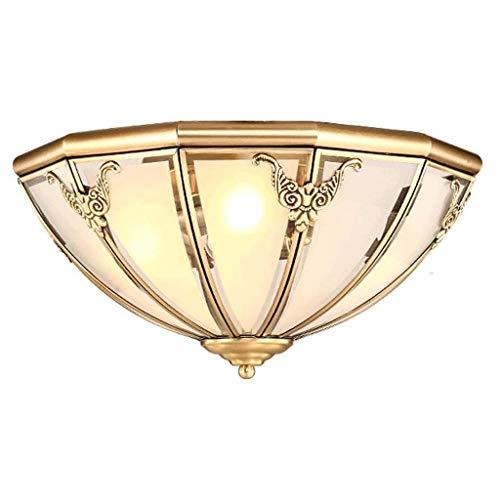 JJZXD Elegante y exquisito diseño de cobre, lámpara de techo, salón, dormitorio, balcón, pasillo, pasillo, lámpara decorativa