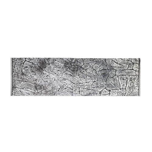 Eurotone Décor de fond 3D pour aquarium Effet ardoise Gris 200 x 60/197 x 54 cm