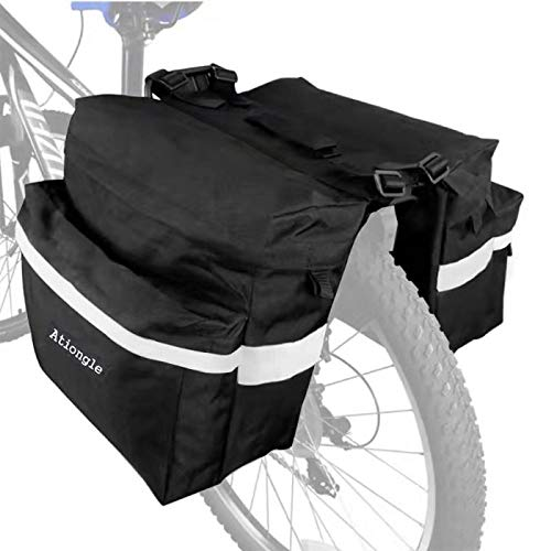 Purchase Ationgle Bike Bag Bicycle Panniers Waterproof Bike Saddle Bags for Rear Rack with Carrying ...