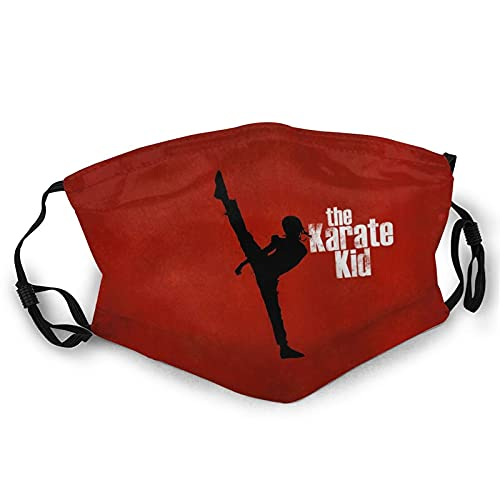 The Karate Kid Face Masc Bandana Headwear lindo dulce corazón formas sobre fondo borroso diseño romántico día de San Valentín