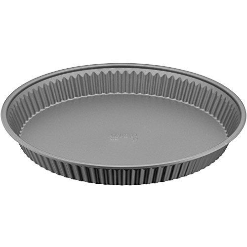 Kaiser Inspiration Tortenboden, 30 cm, rund, Wellenrand, antihaftbeschichtet, gleichmäßige Bräunung, ausgestellter Griffrand