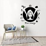 Kjlfow Massage thaïlandais Stickers muraux Stickers Spa Autocollants Spa Relaxation Salle de Massage décoration Murale 42x42CM