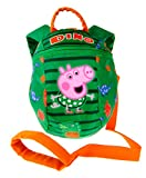 Peppa Pig George <span class='highlight'>Backpack</span> <span class='highlight'>Reins</span> Bag Toddler Boys Small Rucksack with Detatchable Safety Harness for Parental Control