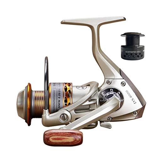OYPY Bobina de Pesca Doble Bobina de Pesca Handshake 12+ 1BB Spinning Pesca Reel Profesional Metal Izquierdo/Derecha Pesca Ruedas de Carrete (Color : 13, Talla : 3000 Series)