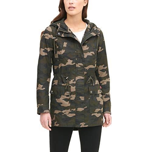 Levi's Women's The Jess Cotton Fishtail Hooded Parka Jacket (Regular and Plus Sizes), Olive Camo, Medium