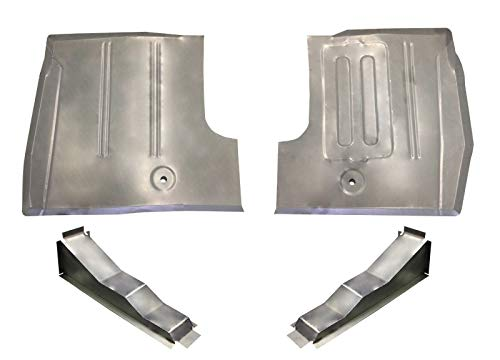 Motor City Sheet Metal -Compatible With : 1961-66 Ford Truck Front Floor Pans & Braces F-100 Thru F-600 Series