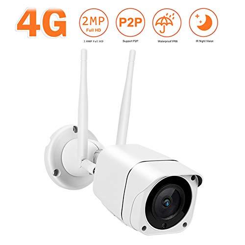 QLPP 3G/4G LTE Überwachungskamera 3G GPRS GSM HD Überwachungskamera für 4G 3G WiFi IP Kamera für Überwachung für Mobilfunk SIM Karte für Innen Aussen Wasserdicht Outdoor Pferde Stall Überwachung,A