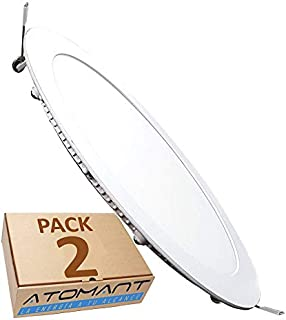 comprar comparacion Pack 2x Panel Downlight LED redondo plano, 18W. Color Blanco Neutro (4500K). 1600 Lumenes. Driver incluido.