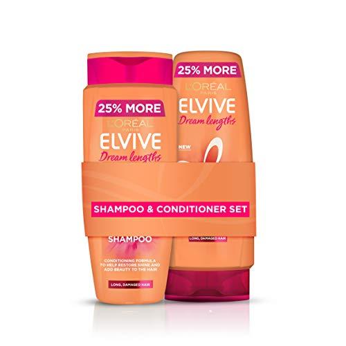 L'Oreal Elvive Dream Lengths Long Hair Keratin Shampoo & Conditioner Set 500 ml