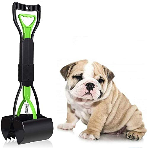 Manico Animale Domestico Pooper Scooper e Tasche 60 cm per Cani, Easy Clean UP verrichten per Tutti Gli Animali Domestic, Portatile Scoop di Poop Dog con Dispenser, Cortile Pooper Scooper