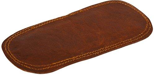 Schulterpolster für Trageriemen Riemenpolster Vintage Braun Leder