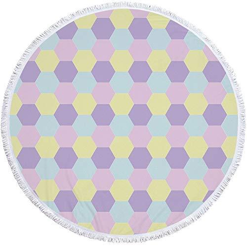 Macaron Donut Kuchen Runde Strandtuch Dickes Badetuch Mikrofaser Sommer Schwimmring Yogamatte Decke 150x150cm Muster 7