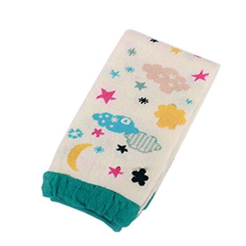 Lot de 2 mignon Lune et étoile bébé fille/garçon jambe Wamers Coton Toddler jambe gardes, 0–2Y