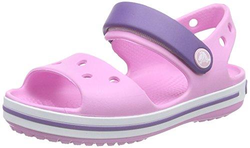 Crocs Crocband Sandal Kids, Unisex - Kinder Sandalen, Pink (Carnation/Blue Violet), 24/25 EU