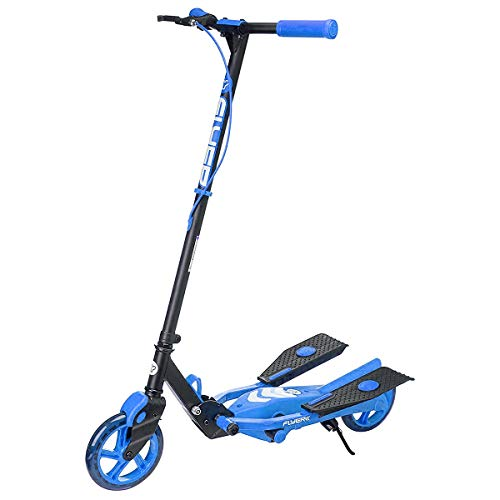 Yvolution Y Flyer Kids Pedaling Stepper Scooter - Suitable for Ages 7 and Over