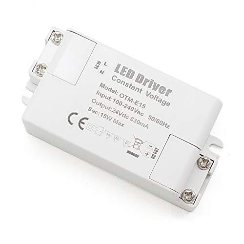YAYZA! 2-Paquete Transformador de Conductor LED de Bajo Voltaje IP44 24V 0.625A 15W Fuente de Alimentación Conmutada de CA/CC