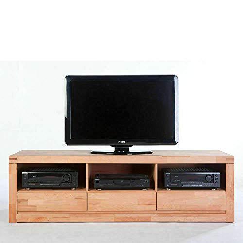 Eternity-Moebel24 TV-Lowboard Wood TV-Schrank TV-Konsole Anrichte Kernbuche Massiv geölt