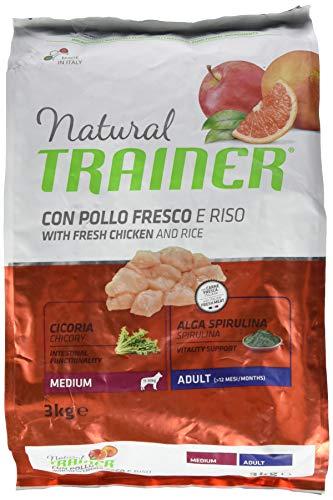 Natural Trainer Natural Medium Huhn Reis kg. 3 Trockenfutter für Hunde, Mehrfarbig, Einheitsgröße
