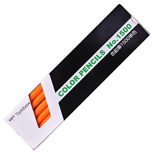 トンボ鉛筆 色鉛筆 1500単色 28 だいだいいろ 1500-2812本入り