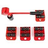 Carrello elevatore portatile per mobili 5 pezzi Set di trasporto per mobili Kit di attrezzi per sollevatori per mobili e cursori per mobili-rosso BCVBFGCXVB