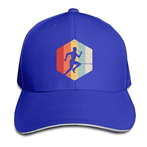 Tttyy Retro Running Sandwich Hat Gorra de Camionero de béisbol para Adultos Unisex