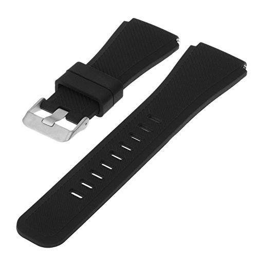 Pulseira de Silicone Preta Para Relógio Samsung Gear S3 Frontier/Classic