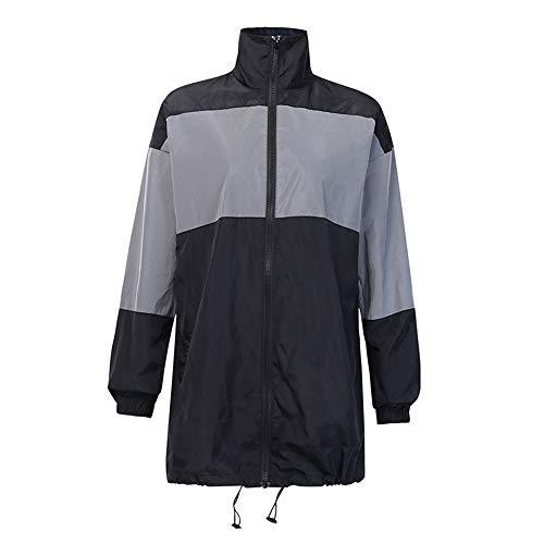 Nvshiyk Reflektierende Jacke für Männer Reflektierende Jacken und Herren- und Frauenwandern, Rad- und Laufsicherheitsjacken, hohe Sichtbarkeit wasserdichte Windjacke zum Laufen Radfahren