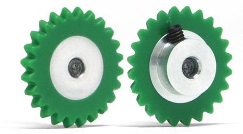 Slot.It GA1524-Pl Couronne 24 dents Ø15mm Plastique pour moteur transversal incliné