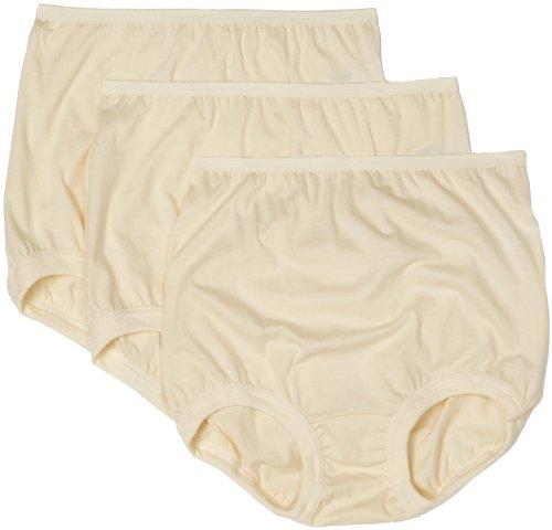 Vanity Fair Women's Lollipop Leg Band Brief Panties 3 Pack 15367, Candleglow, 5