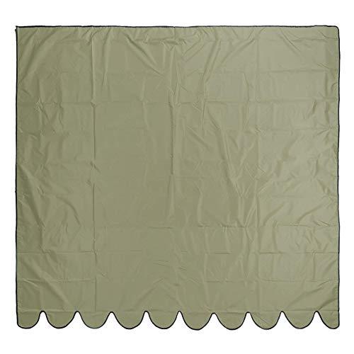 Toldo para jardín 210D con revestimiento plateado de tela de poliéster Oxford para exteriores, jardín, patio, toldo, refugio, impermeable, toldo (tamaño: 3,5 x 2,5 m; color: verde militar)