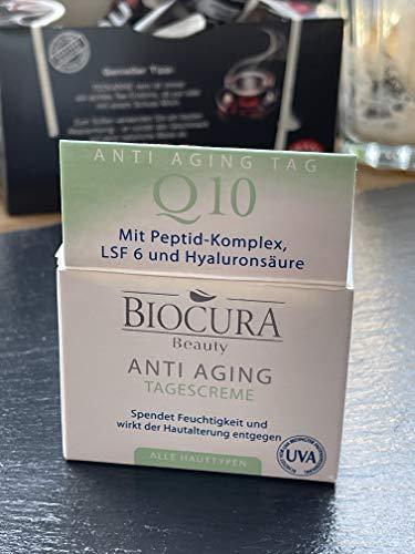 BIOCURA Beauty Anti-Aging Tagescreme Q10 mit Peptid-Komplex,LSF 6 und Hyaluronsäure 50 ml