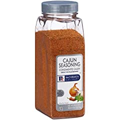 McCormick Culinary Cajun Seasoning features an intricate blend of premium spices like garlic, onion, paprika and red pepper Kosher and made with no MSG added Blended especially for chefs, McCormick Culinary Cajun Seasoning delivers the zesty heat aut...