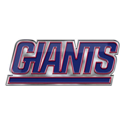 FANMATS NFL - New York Giants Heavy Duty Aluminum Color Emblem, Blue, One Size