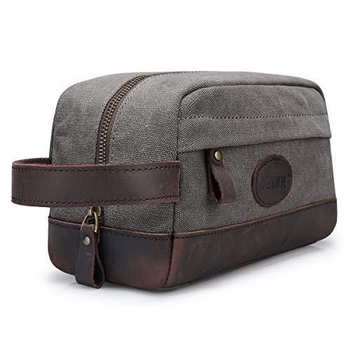 S-ZONE Mens Travel Case Dopp Kit Small Shaving Toiletry Bag Makeup Organizer Insert