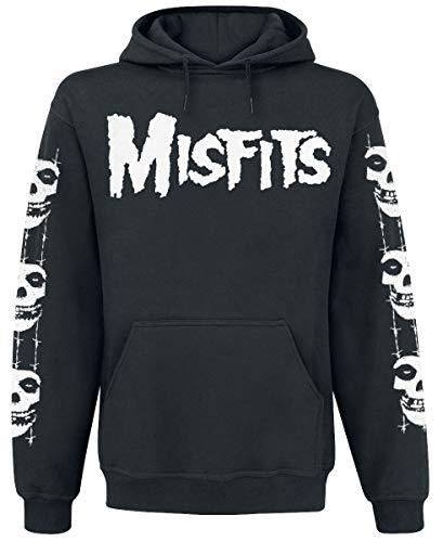 Misfits Skull/Logo Männer Kapuzenpullover schwarz S
