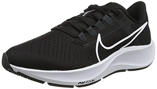 Nike Air Zoom Pegasus 38, Zapatillas para Correr Hombre, Black/White-Anthracite-Volt, 41 EU