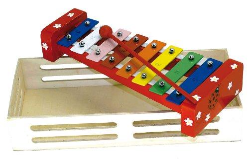 Xylophone en bois et métal - jouet musical avec coffret