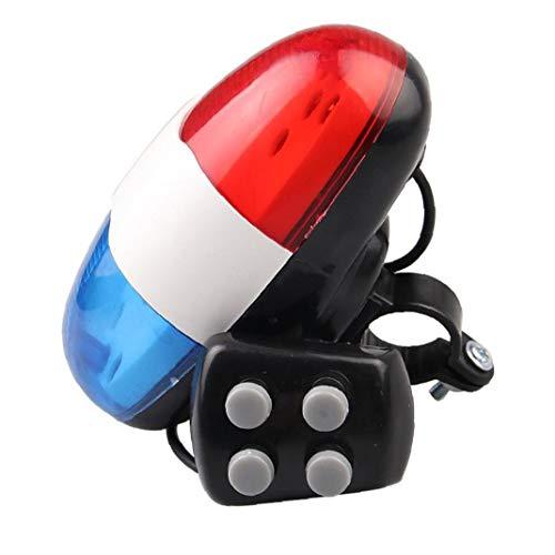 Naisicatar Fahrrad Elektronisches Horn Rücklicht Für Elektronisches Fahrrad-licht Mit 4 Tönen Laut Polizei Sirene Fahrrad Trompete Radfahren Horn-Bell-licht 1pc