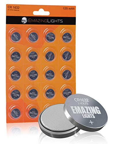 EmazingLights CR1632 Batteries 3 Volt Lithium Coin Cell 3V Button Battery (20 Pack)