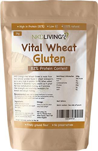 Vital Wheat Gluten 1kg von NKD Living mit 82% Proteingehalt
