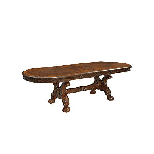 HOMES: Inside + Out Victoria Classic Formal Oval Dining Table, Cherry