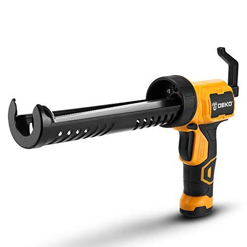 DEKOPRO Caulking Gun, Automatic Electric Glue Gun Heat Hot Melt Multi-function Electric Pressure Sewing Seams Waterproof Glue, Suitable for Caulking, Filling, Sealing