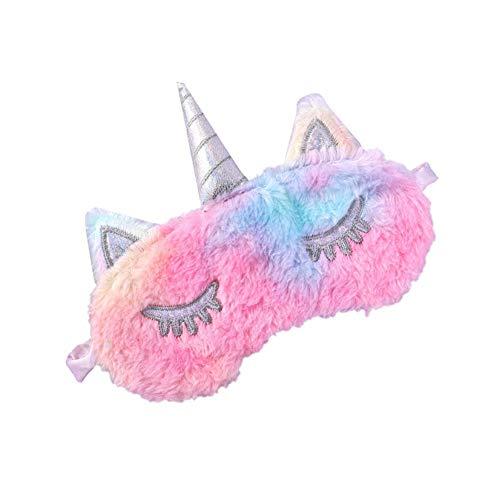 MSYOU Schlafmaske aus Plüsch, Schattierung, Ermüdung der Augen, verstellbar, für Jungen und Mädchen, Schlafgeräte, bunt