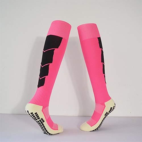 ZYXM 2 Pairs Sports Training Game Football Socks Men's Non-slip God Socks Women's Knee Socks Thin Towel Bottom Seismic Socks (Color : Red Child code 31-38)