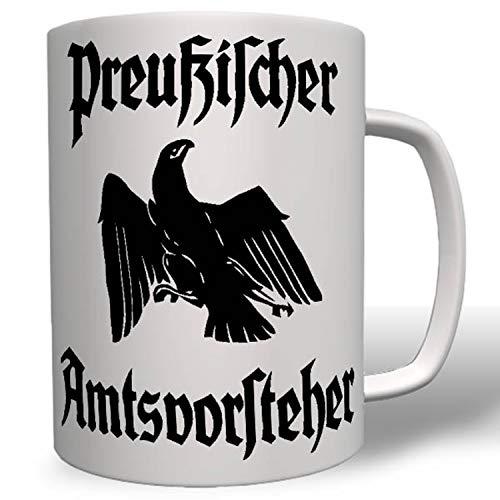 Preußen Adler Beamter Preußischer Amtsvorsteher Fahne Flagge Tasse #16760