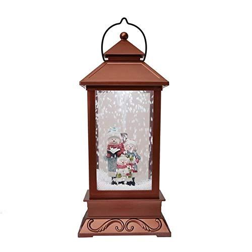 Sizwea Neujahr Dekoration Weihnachtsschmuck Dekorationen Schneeflocken mit Spieluhr für Weihnachtsschmuck, Maroon
