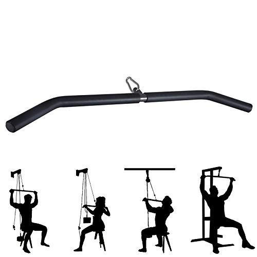 DImotliyor LAT Pull Down Bar, 32 in Attachment for Cable Machine, Exercises Tricep Back Muscles