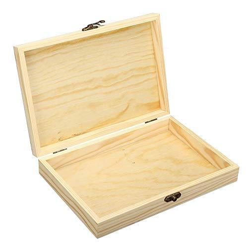 Desktop-Zigarre Moisturizing Box, Naturholzkasten Portable Storage, 250X170x40mm Extra Large Capacity, Geschenk für Männer, Geschäftsleute, Männer, Väter