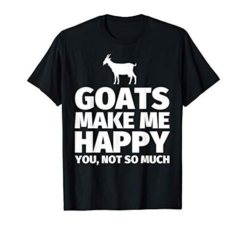 Las cabras me hacen feliz, no tanto - Regalos divertidos par Camiseta