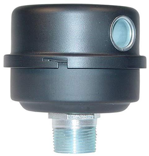 Solberg FS-10-100 Inlet Compressor Air Filter Silencer, 1' MPT Outlet, 4-1/2' HT, 4-1/8' Diameter, 35 SCFM, Made in the USA